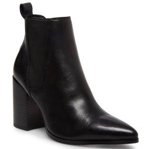 Steve Madden Kasen Black Leather Booties Sz 7.5